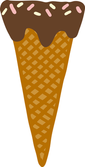 Cute hand-painted chocolate cone