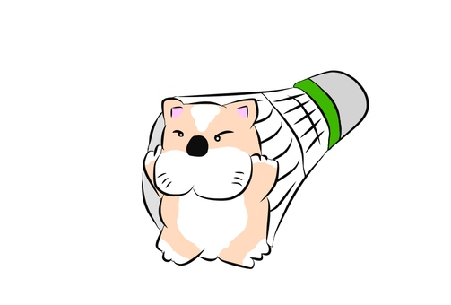 Badminton dog