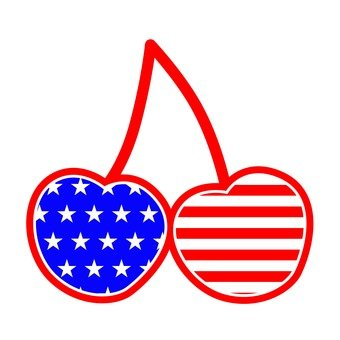 Cherry · American flag Color