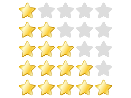 Five-point rating of stars