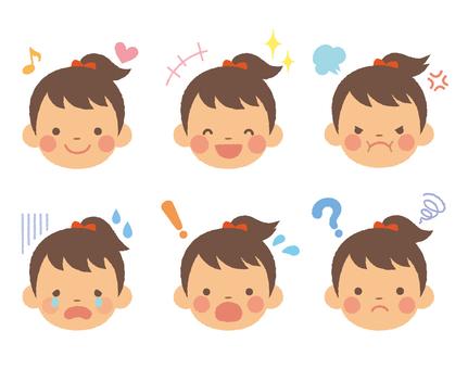 Girl facial illustration 02