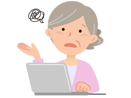 5911. Senior lady computer, Moyamoya