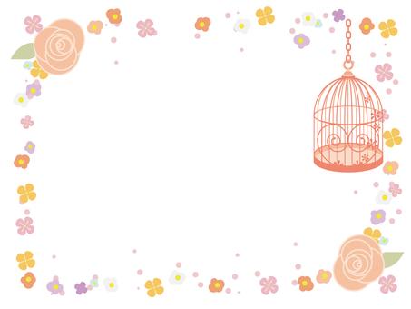 Bird cage decorative frame