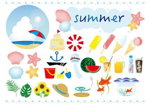 Assortment of summer material