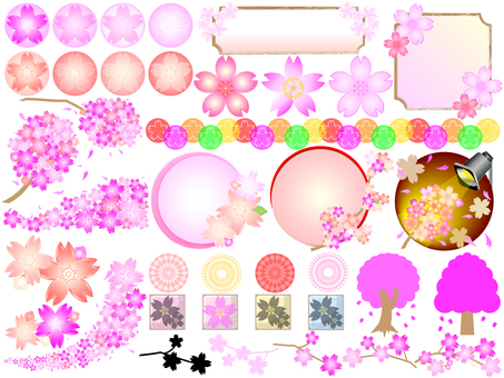 Lots of cherry blossoms collection 01