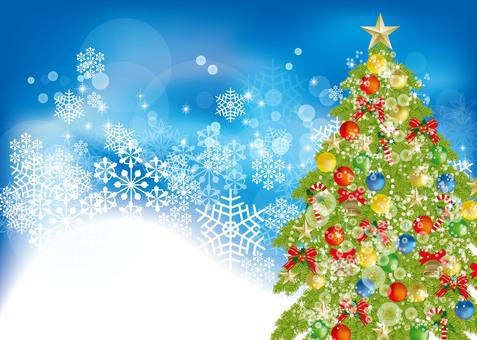 Christmas tree & snow 1