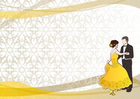 Ballroom dance _ background 5 yellow