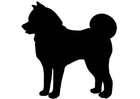 秋田犬シルエット