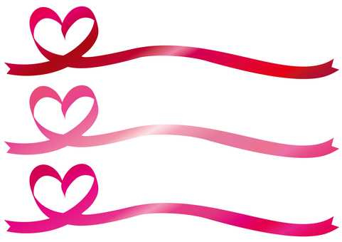Ribbon Heart Frame Frame Background Pink Red Line