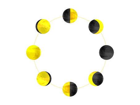 Moon phases white background