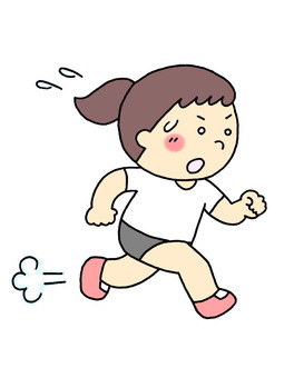 Physical Education Girl (Running)