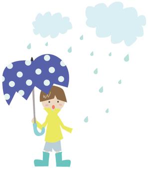 Boys on a rainy day