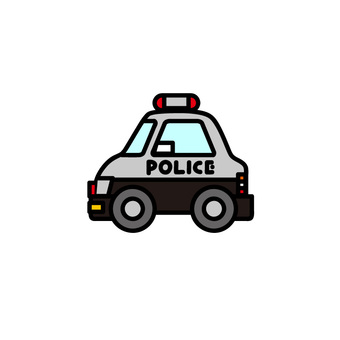 Car illustration (working car: police car)