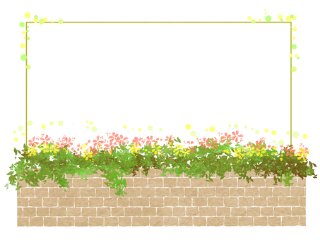 Brick and flowers