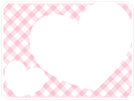 Check and Heart Frame 4 Pink
