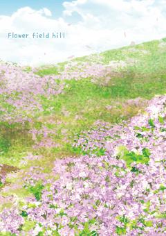 Flower field hill