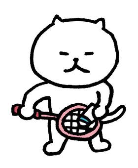 고양이 배드민턴