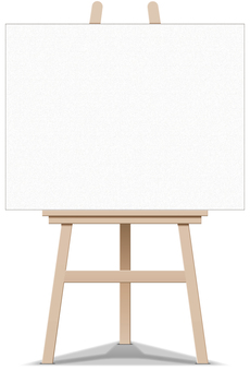 Easel canvas frame