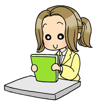 Desk lady