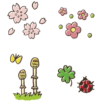 Various kinds of spring