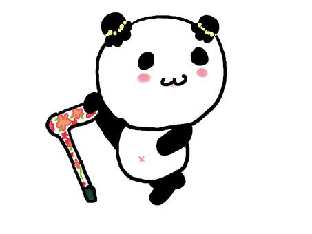 Stick nice child panda
