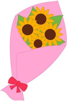 向日葵花束粉紅色