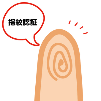 Image of fingerprint authentication