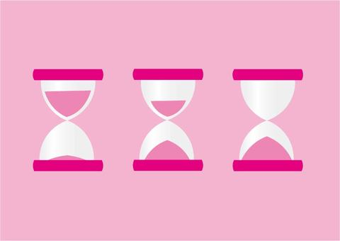 Hourglass icon set