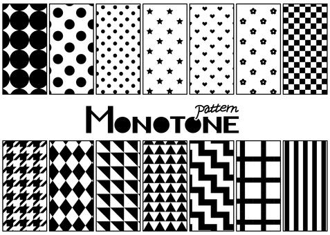 Pattern 8 monotone
