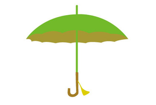 An illustration of an umbrella