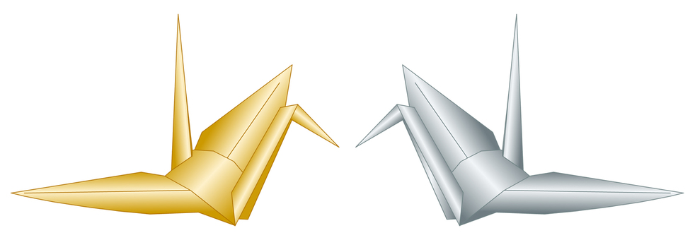 折鶴(金、銀)