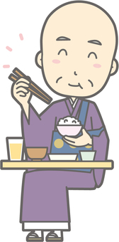 Chief priesthood - Delicious Japanese food - whole body