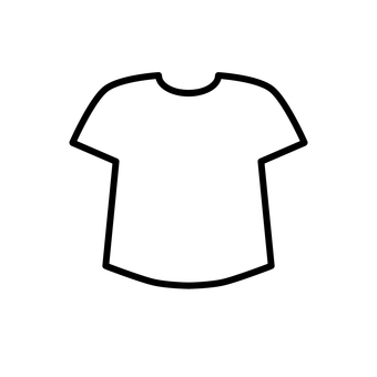 White T-shirt (with contour)