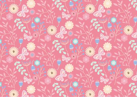 北欧風の花のパターン8