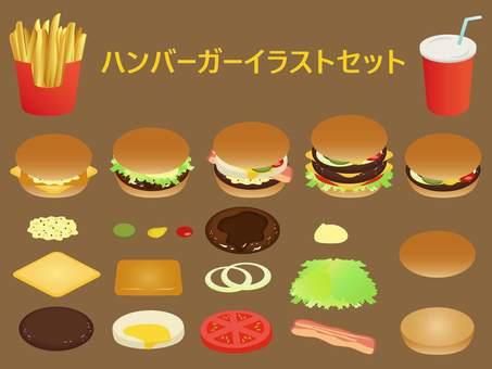 漢堡包插圖集