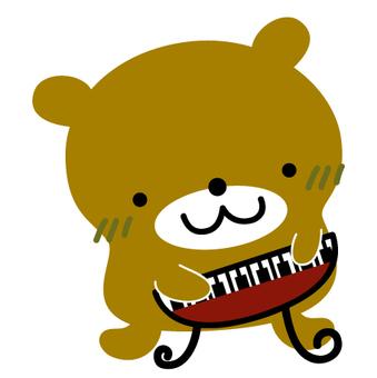 玩鋼琴的熊
