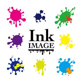 Simple ink splashes