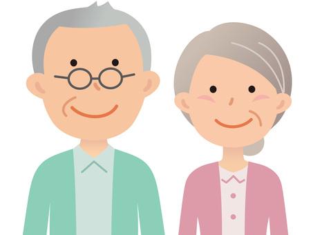 60421. Senior couple, upper body 2