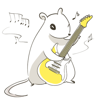 Mouse playing guitar