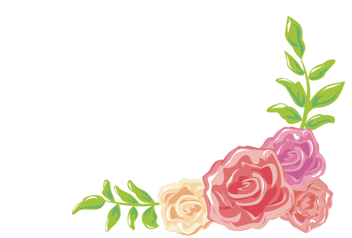 Rose and grass illustration