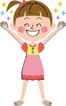 Smile Girls Banzai Open the whole body legs