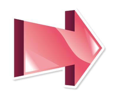3D Arrow _ Icon _ Pink _ Rightward