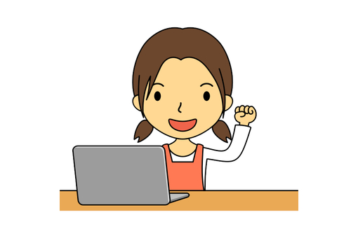 여성 주부 컴퓨터 9