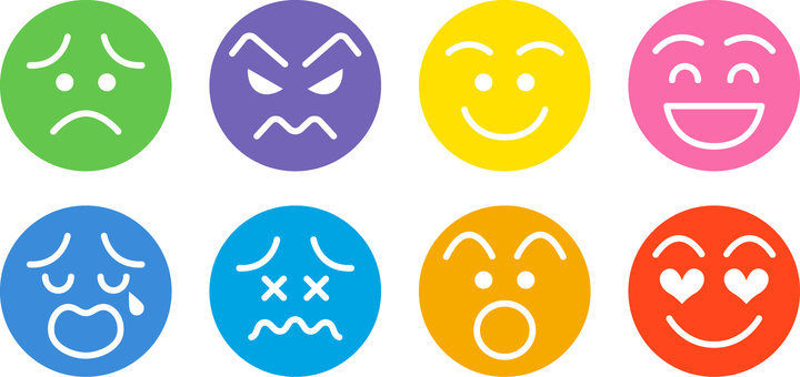 Facial expression icon _ set