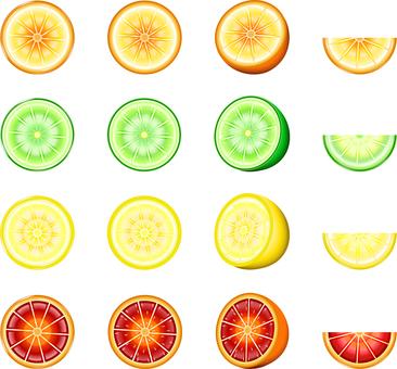 Citrus 16 pieces set