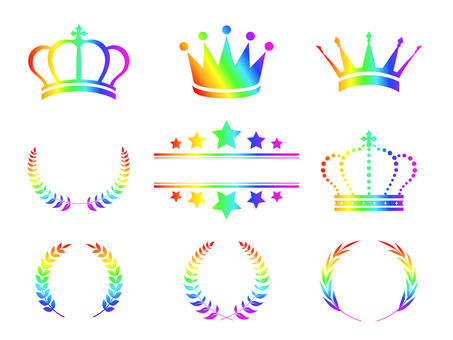 Crown set rainbow