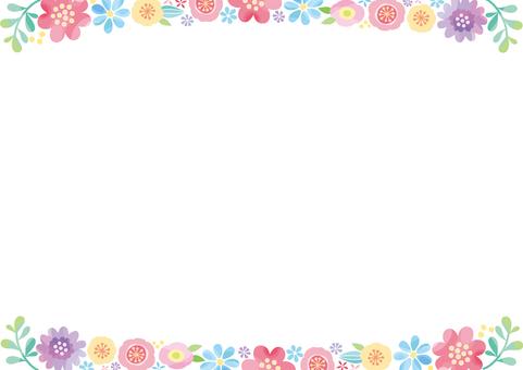 Northern European flower frame