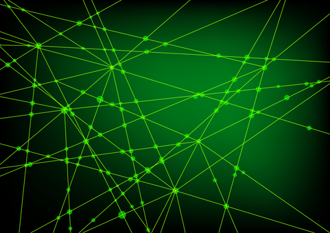 Green network abstract background material