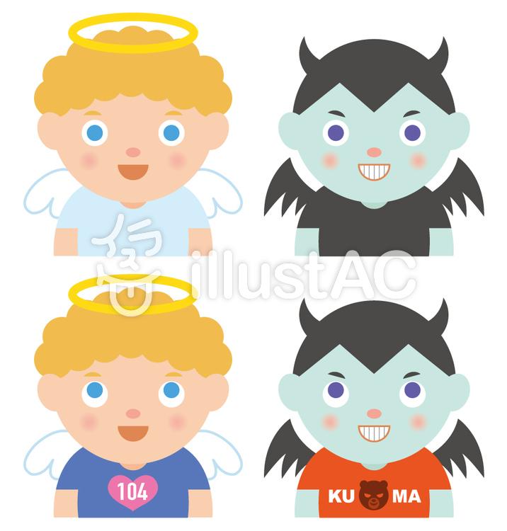 天使と悪魔イラスト No 394803無料イラストならイラストac