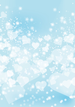 Heart Background - Blue 02